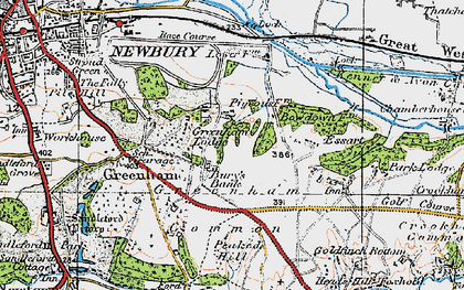 Old map of Bury's Bank in 1919