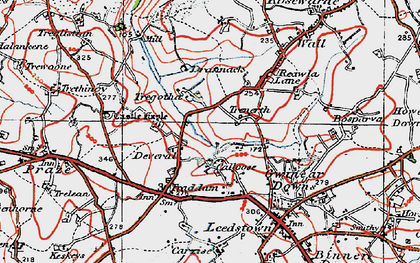 Old map of Calloose in 1919
