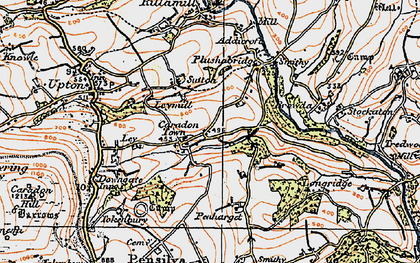 Old map of Caradon Town in 1919