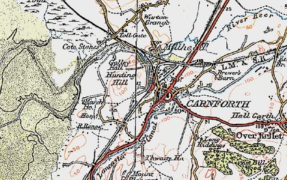 Old map of Carnforth in 1924