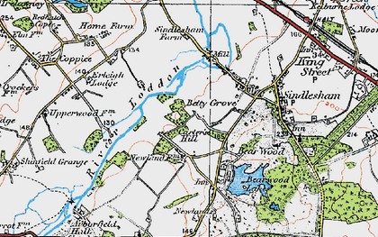 Old map of Carter's Hill in 1919