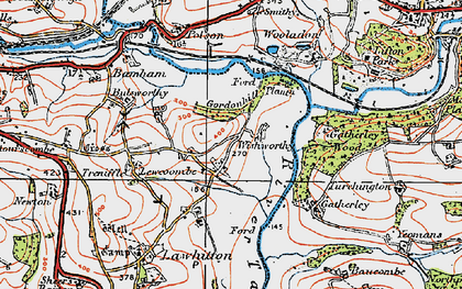Old map of Carzantic in 1919