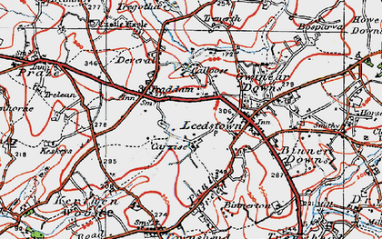 Old map of Carzise in 1919