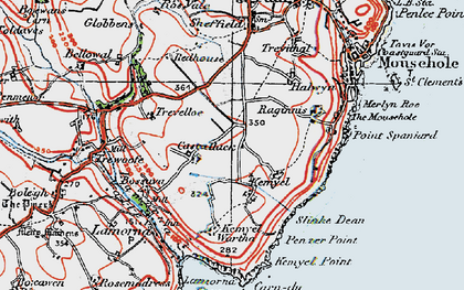 Old map of Castallack in 1919