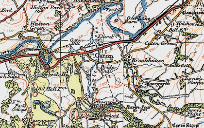 Old map of Caton in 1924