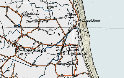 Old map of Chapel St Leonards in 1923