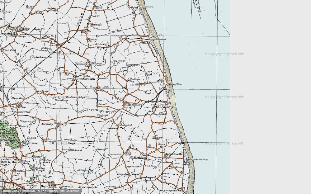 Map of Chapel St Leonards in 1923