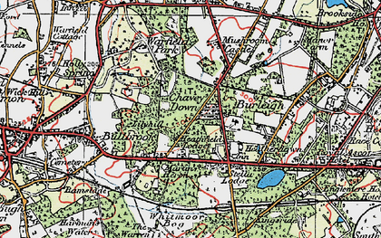 Old map of Chavey Down in 1919