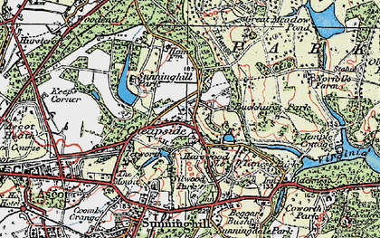 Old map of Cheapside in 1920