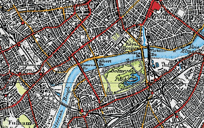 Old map of Chelsea in 1920