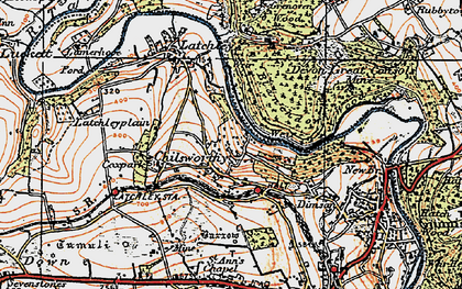 Old map of Chilsworthy in 1919