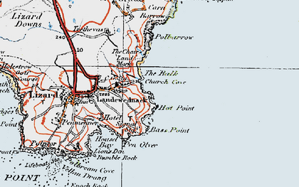 Old map of Church Cove in 1919