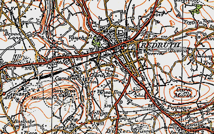 Old map of Church Town in 1919