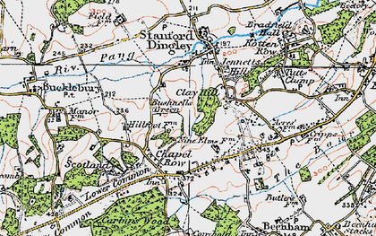 Old map of Clay Hill in 1919