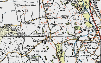 Old map of Cockerham in 1924