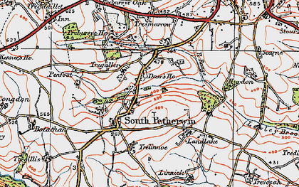 Old map of Daw's House in 1919