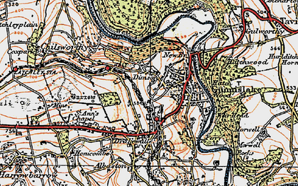 Old map of Dimson in 1919
