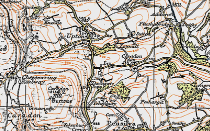 Old map of Downgate in 1919