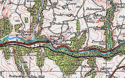 Old map of Drawbridge in 1919