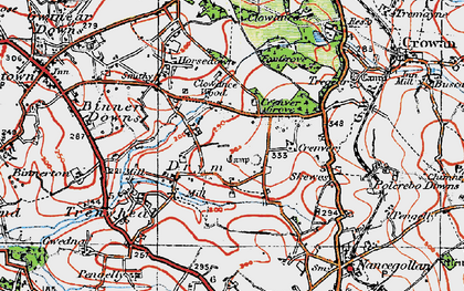 Old map of Drym in 1919