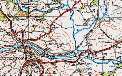 Old map of Dutson in 1919