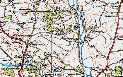 Old map of Eggbeare in 1919