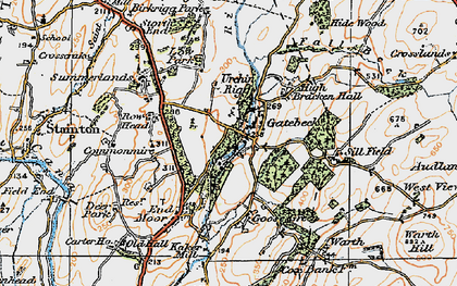 Old map of Endmoor in 1925