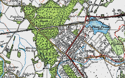 Old map of Fleet in 1919