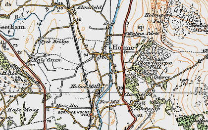 Old map of Holme in 1925