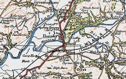 Old map of Hornby in 1924