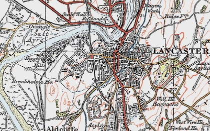 Old map of Lancaster in 1924
