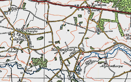 Old map of Marlingford in 1922