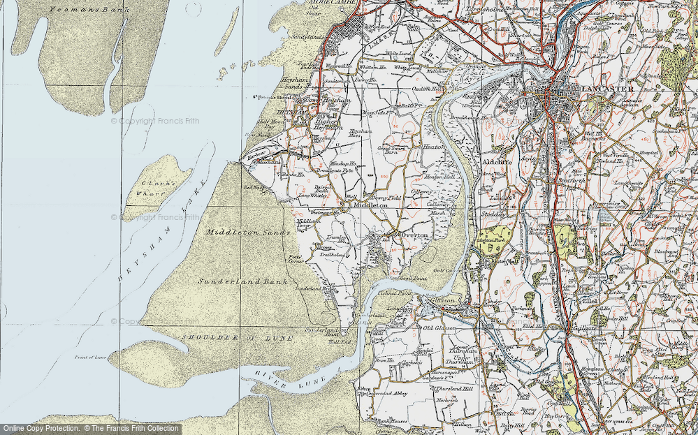 Old Map of Map of Middleton in 1924
