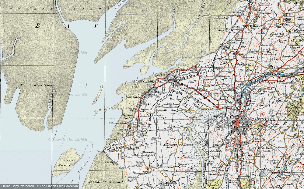 Old Map of Map of Morecambe in 1924