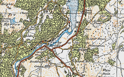 Old map of Newby Bridge in 1925