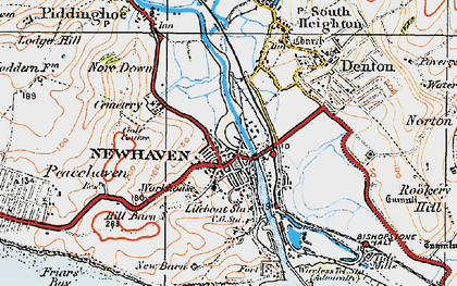 Old map of Newhaven in 1920