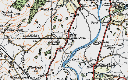 Old map of Newton in 1925