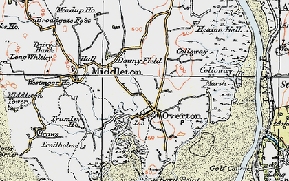 Old map of Overton in 1924