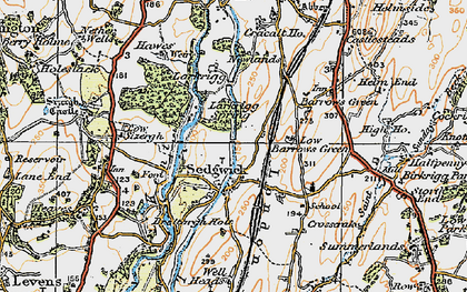 Old map of Sedgwick in 1925