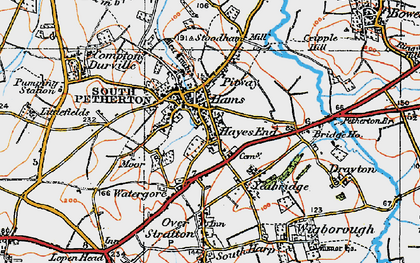 Old map of South Petherton in 1919