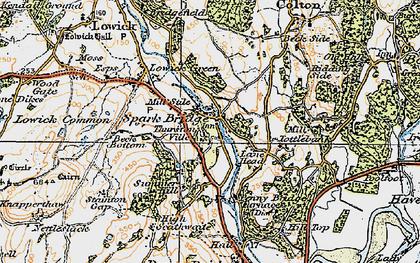 Old map of Spark Bridge in 1925
