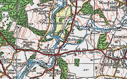 Old map of Stourton in 1921