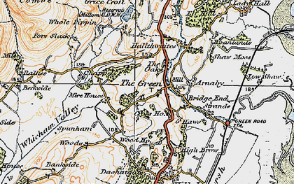 Old map of The Green in 1925