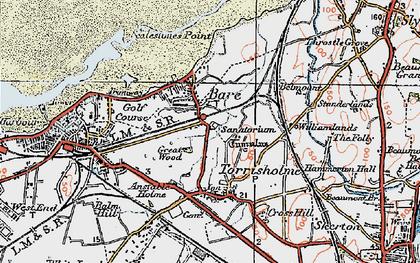 Old map of Torrisholme in 1924
