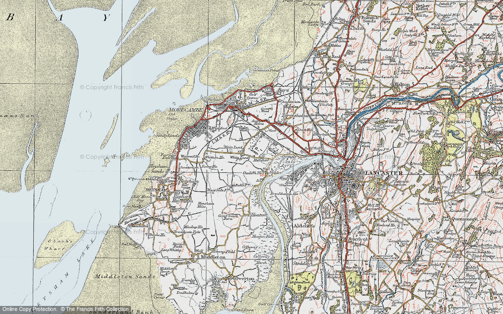 Old Map of Map of White Lund in 1924