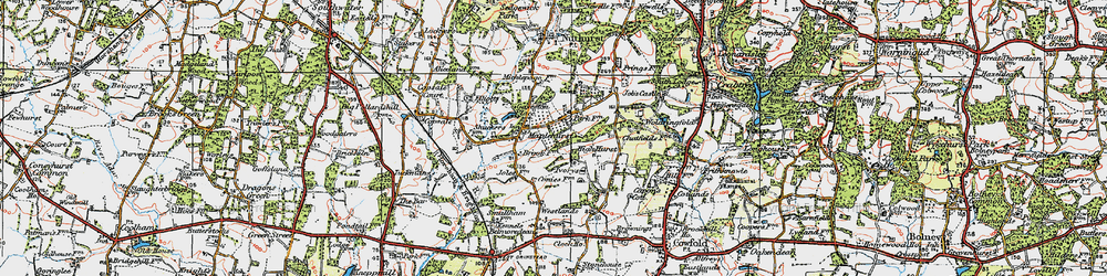 Old map of Woldringfold in 1920