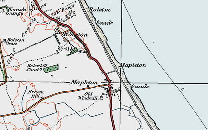 Old map of Mappleton in 1924