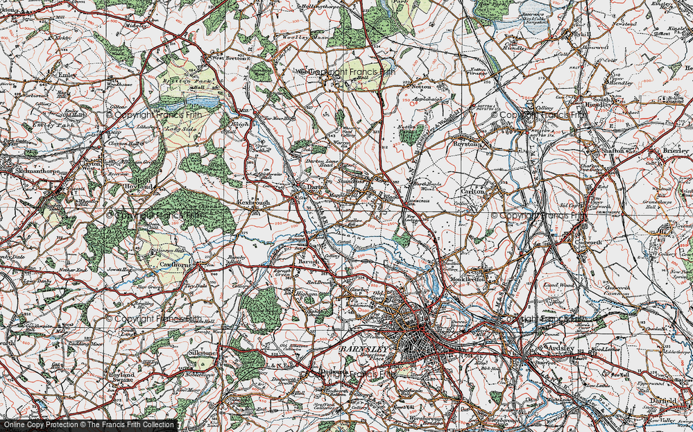 Old Map of Mapplewell, 1924 in 1924