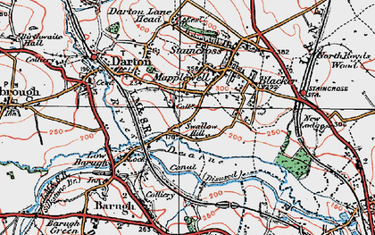Old map of Mapplewell in 1924