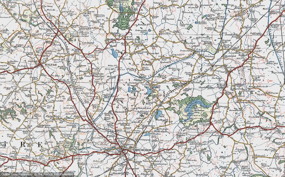 Old Map of Marbury, 1921 in 1921